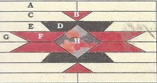 NAVAHO RUG Spinning Spools Quilt Pattern w/Templates