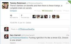 Well, what sort of reply was he expecting to get?? #EDL