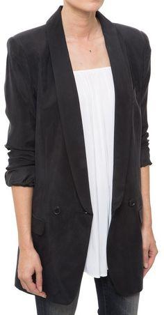 Smythe Oversized Blazer I like the long shawl collar/ low break point