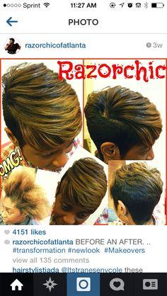 Short cuts for black women Short Sassy Hair, Short Hair Cuts, Pixie Cuts, Love Hair, Great Hair, My Hairstyle, Cool Hairstyles, Black Hairstyles, Locs