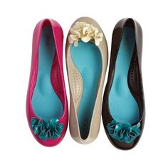 OKA b. Priscilla flats in black/turquoise. love the turquoise contrast