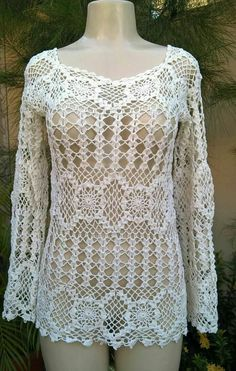 Captivating Crochet a Bodycon Dress Top Ideas. Dazzling Crochet a Bodycon Dress Top Ideas. Crochet Tunic, Crochet Jacket, Diy Crochet, Crochet Clothes, Crochet Bebe, Crochet Tops, Clothing Patterns, Dress Patterns, Crochet Designs