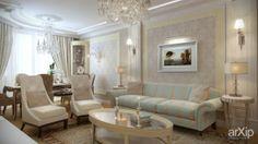 Квартира 105м2: интерьер, квартира, дом, гостиная, неоклассика, 100 - 200 м2 #interiordesign #apartment #house #livingroom #lounge #drawingroom #parlor #salon #keepingroom #sittingroom #receptionroom #parlour #neoclassicism #100_200m2 arXip.com