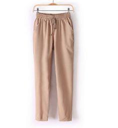 Módní dámské barevné volné pohodlné kalhoty hnědé – Velikost L Na tento  produkt se vztahuje nejen 422c7c3b82