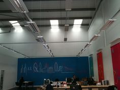 BN Thermic radiant cassettes are not only an economic means of heating large spaces but they also look pretty cool.