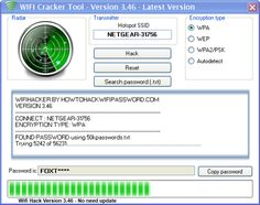 The Latest Version of WiFi Hack Tool 2013. Download Wi-Fi Cracker for Free!