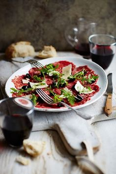 Rachel Allen's beef #carpaccio is made with thinly sliced…#food