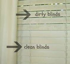 Keep Home Simple: How to Clean Dirty Blinds (with an old sock and vinegar+water or rubbing alcohol).