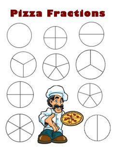 Fracciones, Pizzas and Recortes on Pinterest