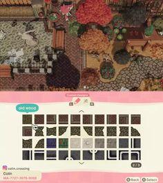 Path Design, Id Design, Custom Design, Motifs Animal, Animal Crossing Game, Old Wood, Decoration, Coding, Island