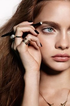 3 Makeup Trends That Are About To Be HUGE #refinery29  http://www.refinery29.com/couture-week-2015-makeup-trends#slide-2  First and foremost with a look featuring defined brows — maintenance. Start by tweezing any hairs that fall outside your natural brow line, and brush hairs up and over in the direction they grow. Then use a brow pencil to trace just beneath your brows. Buff and soften this line with a brush, and finish filling in your set with a brow powder....