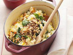 Risotto mit Kürbis und Mais | Zeit: 1 Std.  | http://eatsmarter.de/rezepte/risotto-mit-kuerbis-und-mais
