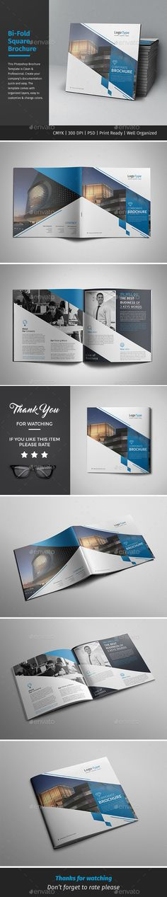Corporate Bifold Square Brochure 09 — PSD Template #marketing #social • Download ➝ https://graphicriver.net/item/corporate-bifold-square-brochure-09/18210241?ref=pxcr