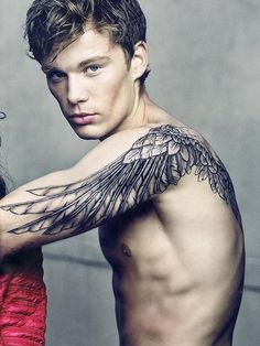 this is the way I want my wing tattoo to be