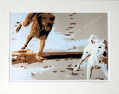 Beach Dogs Giclee Print- Quality A4 Giclee Print by Artist Suzie Nichols