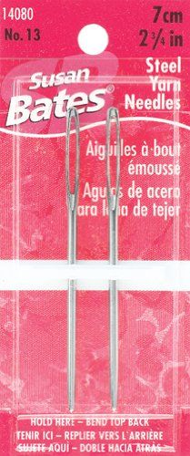Susan Bates Steel Yarn Knitting Needle, 2-3/4-Inch, 2 Per Package * Click image for more details.