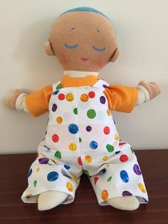 A fun set for your Lulla doll to wear. A T-shirt made from quality knit fabric which closes at the back with hook and loop tape. The overalls are made from quality cotton fabric with elastic in the back and snaps on the straps and bodice. Lulla doll is not included.