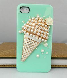 Ice cream Cartoon Style loves iphone case  iPhone case iPhone 4 case iPhone 4s case iPhone cover Multiple color choices