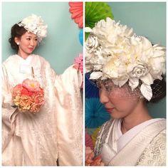 The Sweet Closet 人気NO1の白ベッド accessory:05-3352 着物:00-3124 hair:Chinatsu kai make:Miyuki mori #thesweetcloset #accessory #ブライダルヘア #ブライダルヘアアレンジ