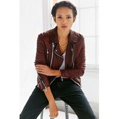 a11a0e372f11 Pantone Presents Its 2015 Color of the Year Marsala - Leather Jacket by  Doma Color Of