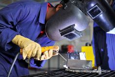 Shielded Metal Arc Welding, more commonly known as Stick Welding. This kid is just learning...