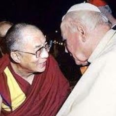 Pope John Paul II and the Dalai Lama