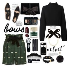 """Put A Bow On It!"" by bamaannie ❤ liked on Polyvore featuring DKNY, Ann Taylor, Smith & Cult, Lulu Frost, Kate Spade, Christian Dior, Clarisonic, MAC Cosmetics, Anna Sui and Shiseido"