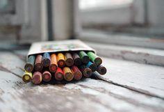 Vintage color pencils set 18 colors wood pencils by Grannysbox
