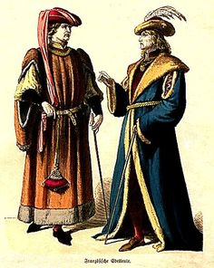 Plate #23d - First Half of the Fifteenth Century      French Noblemen