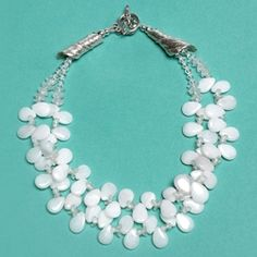 """""""All dressed in white"""" necklace by Wendy Cooper, courtesy of Bead Style."""