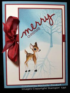 Old Time Christmas Card created by Michelle Zindorf using Stampin' Up! Products - Sheltering Tree and Holly Jolly Greetings