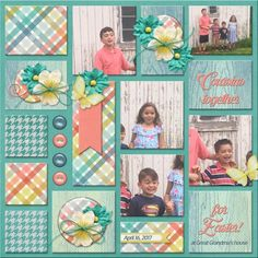 Cousins together at Easter! Scrapbook Letters, Baby Scrapbook Pages, Scrapbook Quotes, Kids Scrapbook, Scrapbook Designs, Scrapbook Sketches, Scrapbook Page Layouts, Scrapbook Paper Crafts, Scrapbook Cards