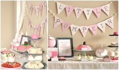 {MY PARTIES} little pumpkin girl baby shower - Creative Juice