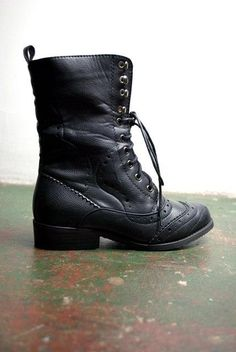 I like to think combat boots make even small people look like someone you don't want to mess with.