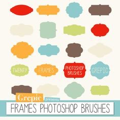 Photoshop brush frames  FRAMES PHOTOSHOP BRUSHES  - 20 high quality frames / labels  sc 1 st  Pinterest & Free Photoshop Brushes | Photoshop | Pinterest | Free photoshop ...