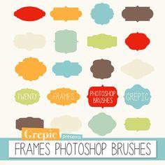 "Photoshop brush frames: ""FRAMES PHOTOSHOP BRUSHES"" - 20 high quality frames / labels / tags photoshop brushes door Grepic op Etsy https://www.etsy.com/nl/listing/153719889/photoshop-brush-frames-frames-photoshop"