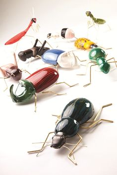 Mambo Fauna Ceramic and brass ornament beetles, ants and other bugs. We love them on our wall!