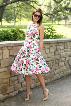 Jessica Quirk's modified version of Simplicity 1607 for the cropped top and Butterick 5882 for the skirt.