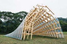 'Wind Eaves' pavilion - Taiwan - Kengo Kuma