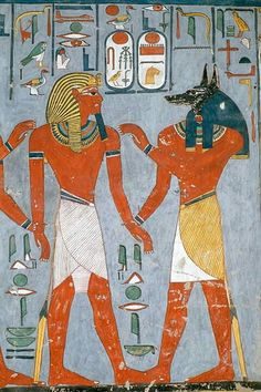 Ancient Egyptian Paintings, Ancient Egyptian Artifacts, Ancient Egypt Art, Egyptian Symbols, Ancient Aliens, Ancient History, European History, Ancient Greece, Anubis