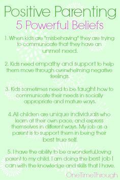5 Powerful Positive Parenting Beliefs