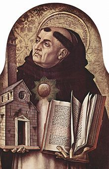 "Thomas Aquinas - an Italian Dominican friar and priest and an immensely influential philosopher and theologian in the tradition of scholasticism, within which he is also known as the ""Doctor Angelicus"", ""Doctor Communis"", and ""Doctor Universalis"""