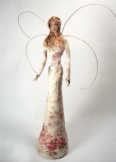 How pretty is this paper mache fairy? We'd like to add some #robertcrafts embellishments to her #Kids #DIY