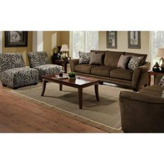 3,179.99 Everyone loves something pretty, and the Chelsea Home Tiffany Sofa Set and Accent Chairs - Sonar Mahogany is an entire room full of style. The elegant, transitional style and mix of upholstery..