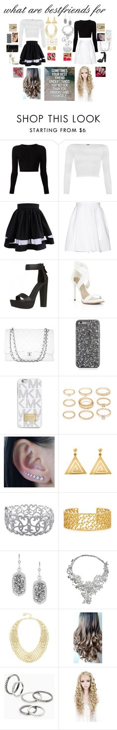 """""""bestfriends to the end"""" by creative-doll ❤ liked on Polyvore featuring beauty, Cushnie Et Ochs, WearAll, Carven, BCBGMAXAZRIA, Chanel, MICHAEL Michael Kors, Forever 21, ChloBo and Ice"""
