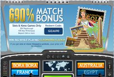 Palace of Chance RTG Casino biggest monthly reload match bonus - get 690% free Match
