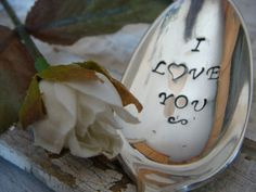 I Love You  Vintage Coffee Spoon by thewritedesign on Etsy, $12.00