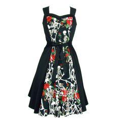 Personnalisé robe fait Swing / Choisissez votre tissu / Skulls