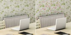 Heat sensitive wallpaper brings a room to life when it's warm.