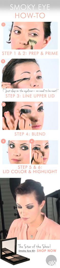 Smoky Eye How-To with glo minerals.